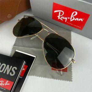 Ray-Ban large metal aviator classic RB3025 sunglasses &